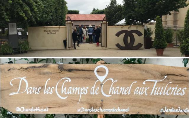 Dans le Champs de Chanel aux Tuileries